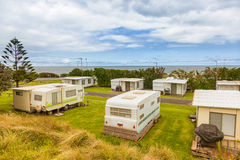 Caravan or trailer park Royalty Free Stock Photography