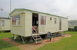 Caravan trailer park Stock Image