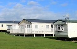 Caravan trailer park in summer Royalty Free Stock Image