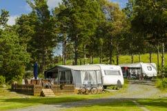 Caravan vakantie Zweden Stock Afbeelding