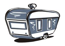 Caravan, vector icon Royalty Free Stock Photography