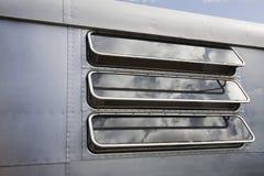 Caravan window close-up Royalty Free Stock Photos