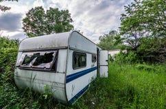 caravana abandonada Foto de archivo libre de regalías