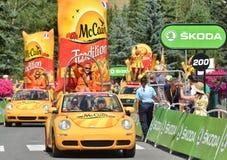 Caravana da publicidade, Tour de France 2017 Foto de Stock Royalty Free