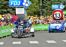 Caravana da publicidade, Tour de France 2017 Imagem de Stock Royalty Free