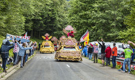 Caravana de Banette en las montañas de los Vosgos Imagen de archivo libre de regalías