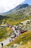 Caravana de Banette nos cumes - Tour de France 2015 Foto de Stock Royalty Free