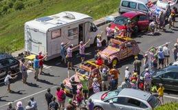 Caravana de Cochonou - Tour de France 2016 Fotos de archivo libres de regalías