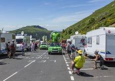 Caravana de Skoda - Tour de France 2016 Imágenes de archivo libres de regalías