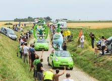 Caravana de Teisseire em um Tour de France 2015 da estrada da pedra Imagens de Stock Royalty Free