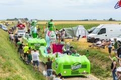 Caravana de Teisseire em um Tour de France 2015 da estrada da pedra Imagem de Stock