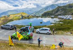 Caravana de Teisseire nos cumes - Tour de France 2015 Imagem de Stock