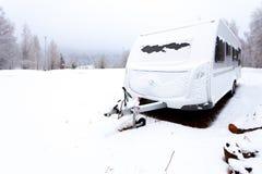 Caravana del invierno fotografía de archivo libre de regalías
