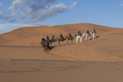 Caravana do Berber no deserto fotos de stock
