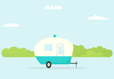 Caravana do reboque do carro ilustração stock