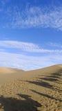 Caravana en el desierto Fotografía de archivo libre de regalías