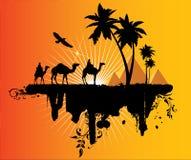 Caravana en el desierto libre illustration