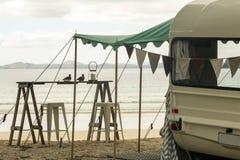 Caravana retra Fotografía de archivo libre de regalías