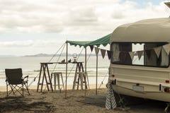 Caravana retra Imagen de archivo libre de regalías