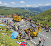 Caravane de BIC - Tour de France 2014 Photographie stock