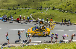Caravane de BIC - Tour de France 2014 Images libres de droits