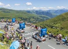 Caravane de budget d'IBIS - Tour de France 2014 Photos stock
