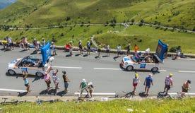 Caravane de budget d'IBIS - Tour de France 2014 Image stock