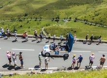 Caravane de budget d'IBIS - Tour de France 2014 Photo stock