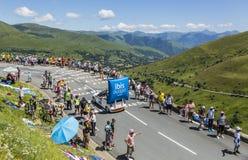 Caravane de budget d'IBIS - Tour de France 2014 Images libres de droits