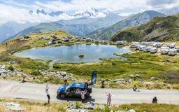 Caravane de Festina dans les Alpes - Tour de France 2015 Images libres de droits