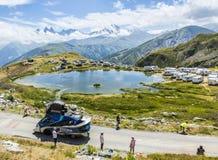 Caravane de Festina dans les Alpes - Tour de France 2015 Image stock