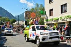 Caravane de publicité, Tour de France 2017 Image stock