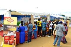 Caravane de santé sur la nourriture Photo stock