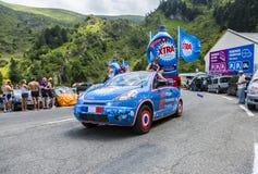 Caravane de X-TRA - Tour de France 2014 Photographie stock libre de droits
