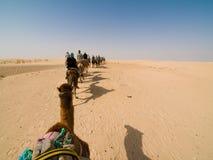 Caravane des chameaux Photo stock