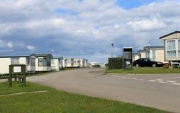 Caravane ou terrain de caravaning mobile Photographie stock libre de droits