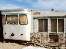 Caravane résidentielle abandonnée Image stock
