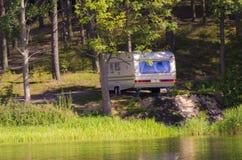 Caravane sur la côte Photos libres de droits