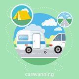 Caravaning tourism Stock Photography