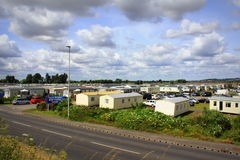 Caravanpark het Verenigd Koninkrijk Stock Fotografie