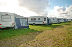 Caravans Camping Stock Photo