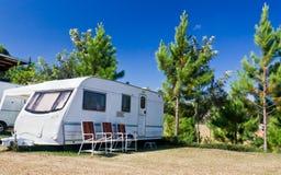 Caravans  camping Royalty Free Stock Image