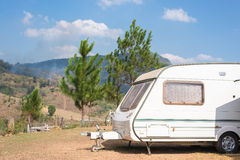 Caravans camping Stock Photos