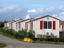 Caravans in holiday park Stock Image