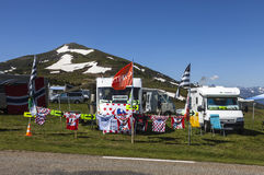 Caravans of Le Tour de France Royalty Free Stock Photos
