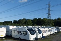Caravans stored 2a Stock Photography