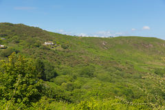 Caravans at the top of the cliff with view of Three Cliffs Bay the Gower Wales uk Royalty Free Stock Photos