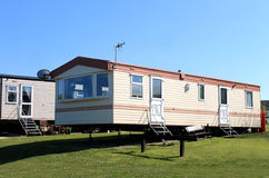 Caravans in trailer park Stock Photo