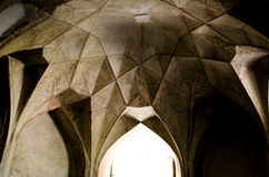 Caravansary Ceiling. Architectural Patterns in Qazvin Ancient Caravansary Stock Image