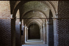 Caravansary Corridor. Qazvin Ancient Caravansary in Qazvin Stock Photo